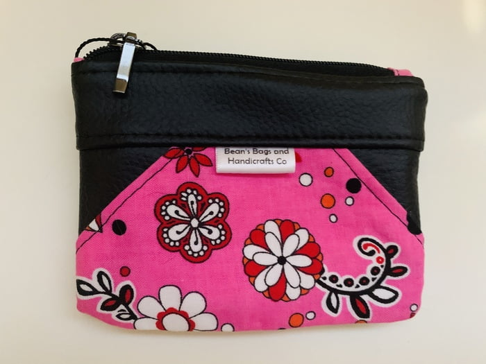 Beachcomber Coin Purse - Hot Pink Floral