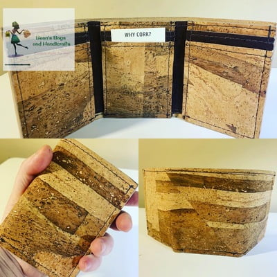 Tri-Fold Wallet - Vegan Cork Bark