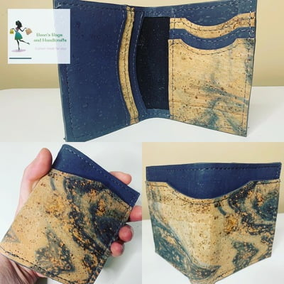 Bender 2.0 Wallet - Vegan Charcoal and Watercolor Cork