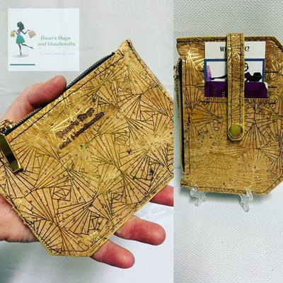 Copy of Cork Pocket Pal - Natural with Gold Lines