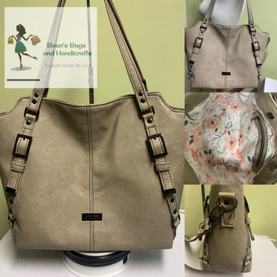 Moonwake Bag - Beige & Gunmetal